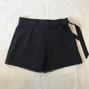 Banana Republic Scalloped Hem Navy Dress Shorts